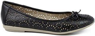 46609 Zapato Bailarina Mujer, calados, Adorno Lazo