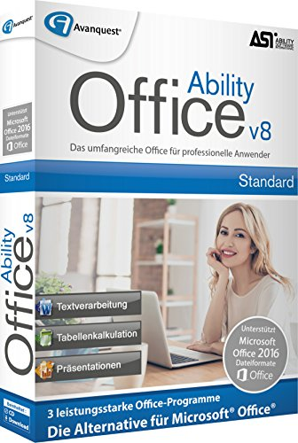 Ability Office 8. Für Windows Vista/7/8/8.1/10