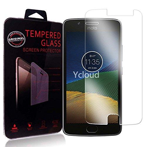 Ycloud Protector de Pantalla para Lenovo Moto G 5ª Generación (5.0 Pulgada) / Moto G5 Cristal Vidrio Templado Premium [9H Dureza][Alta Definicion]