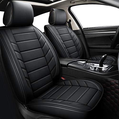 LUCKYMAN CLUB Car Seat Covers fit Sedan SUV fit for Altima Murano Frontier Maxima Xterra Chevy Cruze Impala Malibu Equinox HHR Venue Seltos CX-30 cx30 cx5 cx7 (Full Set, Black)
