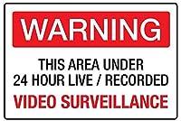 ビデオ監視 メタルポスタレトロなポスタ安全標識壁パネル ティンサイン注意看板壁掛けプレート警告サイン絵図ショップ食料品ショッピングモールパーキングバークラブカフェレストラントイレ公共の場ギフト