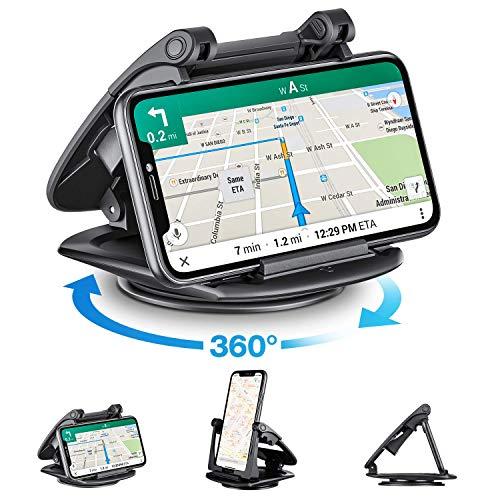 Modohe Handyhalterung Auto, 360°Sockel-drehbar KFZ Handy Halterung Universal rutschfest handyhalterung für iPhone11 Pro/11/Xs Max/Xs/Xr/X/8/7/6s Plus, Galaxy S10 Note 10+ Huawei Mate 30 pro und alle