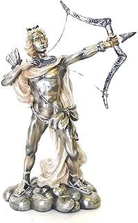 Bellaa 21107 Hercules The Archer Shooting Arrow Statue Sculpture Greek Sculptures 9 inch