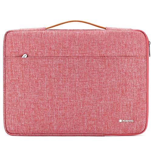 NIDOO 14 Inch Laptop Sleeve Case Briefcase Handbag for 14' Lenovo Chromebook S330 / Lenovo ThinkPad A485 E485 E490 T480s / HP ProBook 645 G4 / Acer Swift 5 7/15.6' Lenovo Thinkpad T590,Red