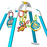 Nurture Smart Crib & Floor Activity Gym for Baby - Interactive Infant Play Gym, can Safely Fit in Crib and Play Yard, with Hanging Toys That Stimulate Brain & Muscle Development, Easy to Disinfect