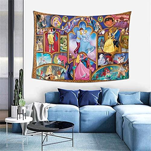 Tapiz de princesa Disney Trippy para colgar en la pared para sala de estar, dormitorio, dormitorio de 101,6 x 152,4 cm