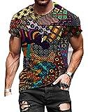 Jersey De Manga Corta con Cuello Redondo Y Estampado De Camiseta para Hombre