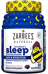 Natural Zzzs: Let Zarbee's Naturals remedy your child's occasional sleeplessness with a chewable gummy in a yummy natural berry flavor; Our formula contains melatonin, a drug free and safe ingredient Natural Sleep Supplement With Melatonin: These gum...