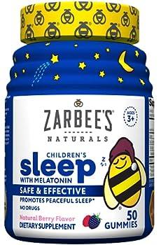 Zarbee s Naturals Sleep with Melatonin Supplement Berry Flavored Multi 50 Count