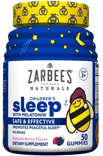 Zarbee's Naturals Sleep with Melatonin Supplement, Berry Flavored,...