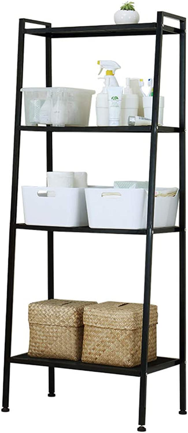 Kitchen Storage Rack Four-Layer Trapezoidal Shelf Bookshelf Kitchen Living Room Bathroom Floor Finishing Storage Shelf Organisation (color   A)