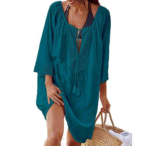 Tyidalin Damen Sommer Strandkleid Bikini Cover Up Casual MiniKleid Sommerkleid Lose Casual Strand Pareo
