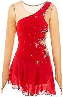 YiZYiF 2 PCS Costume del Vestito Paillettes Vestito da Balletto//Collare Showman Costume da Barnum Abiti da Danza Body Ginnastica Spalline Dancewear Spettacolo Teatro
