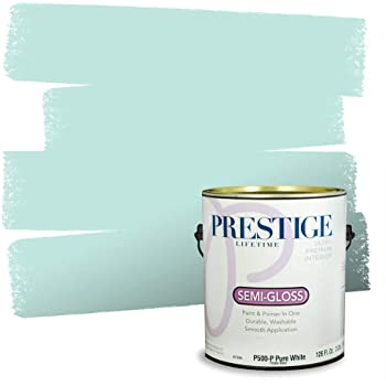 Prestige Paints P500-P-SW6757 Interior Paint and Primer in One, 1-Gallon, Semi-Gloss, Comparable Match of Sherwin Williams Tame, 1 Gallon, SW135-Tame Teal