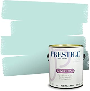 Prestige Paints Interior Paint and Primer In One, 1-Gallon, Semi-Gloss, Comparable Match of Sherwin Williams* Tame Teal*