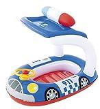 Bestway Boot mit Lenkrad und Sonnendach Babypool UV Schutz (BLAU)