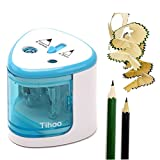 Hangang Battery Operated Electric Pencil Sharpener with Auto-Stop Feature and Replaceable Steel Knife