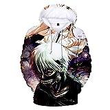 YOYOSHome Anime Tokyo Ghoul Cosplay Kaneki Ken Sudadera con capucha para disfraz, suéter de forro polar - - XXX-Large