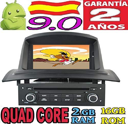 Renault Megane 2 II Android 9.0 Quad Core 2GB RAM 16 GB ROM GPS Radio Coche DVD AUTORADIO WiFi 3g 4g navi navegador AÑO: 2002 2003 2004 2005 2006 2007 2008