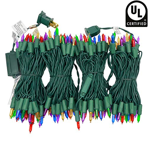 YULETIME UL Certified Multicolor LED Christmas String Lights, 66 Ft 200 LED Commercial Grade Christmas Light Set, Connectable Home Decor Lights for Patio Garden Wedding Holiday (Multicolor)