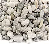 Southwest Boulder & Stone Landscape Rock and Pebble | 20 Pounds | Natural, Decorative Stones and Gravel for Landscaping, Gardening, Potted Plants, and More (White Ice, 3/8 Inch)