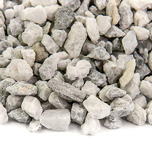 Southwest Boulder & Stone Landscape Rock and Pebble   20 Pounds   Natural, Decorative Stones and Gravel for Landscaping, Gardening, Potted Plants, and More (White Ice, 3/8 Inch)
