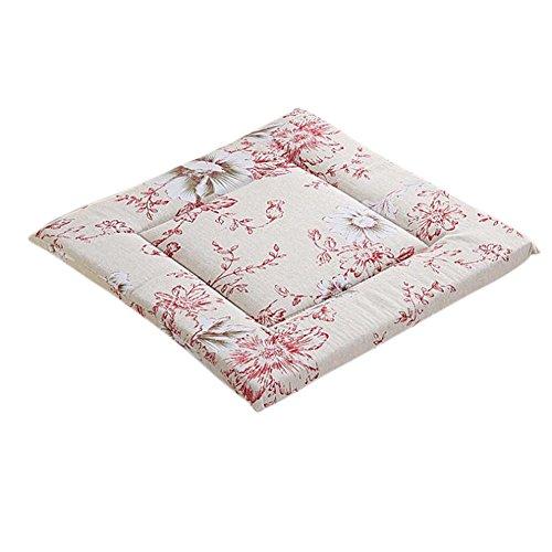 LAMEIDA Coussins de chaise Coussin d'assise Coussin Design classique en coton et lin pour Maison Voiture Canapé size 40cm*40cm*2.8cm (Rouge Pivoine)