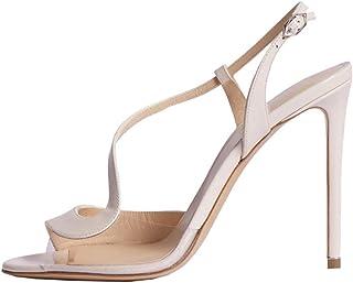 Bfg Boots Scarpe Donna trasparente pompe PVC di alta qualità sandali stiletto a punta color nudo Tacchi alti scarpe di cri...