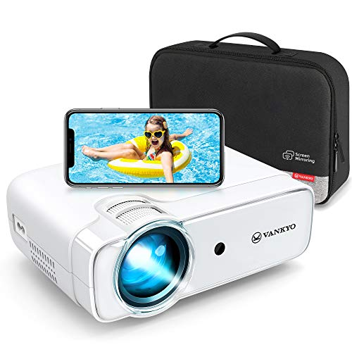 VANKYO Leisure 430W [2020 Upgraded] Mini Wi-Fi Projector, Full HD 1080P Supported Projector with Synchronize Smart Phone Screen, Video Portable Projector Compatible with iOS/Android Devices, Windows