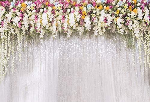 OERJU 14x10ft White Rose Floral Bridal Wedding Superlatite Theme Sh Over item handling Backdrop