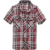 Bandido Camisa Roadstar Cuadro B-4003 - Rojo/Negro/Blanco, 4XL