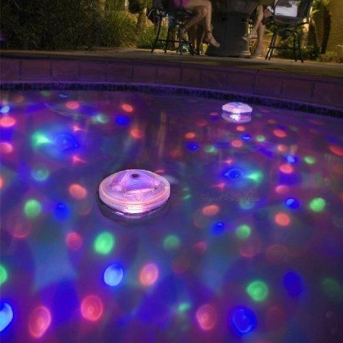 Patuoxun - Lampada subacquea a sfera, a LED, per effetti luce stile disco, per acquari, laghetti, piscine, spa, vasche idromassaggio