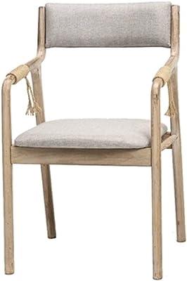 ダイニングチェア 椅子オフィスのコンピュータチェアベッドメイクアップチェアホームダイニングチェアレジャーチェア木製ギフト (Color : Brown, Size : 83*46*62cm)