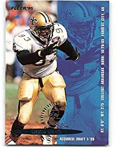 1995 Fleer #268 Wayne Martin NM-MT New Orleans Saints Football