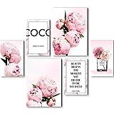 Listo para colgar - murales Set flores rosas - viviendo pasillo del dormitorio del sitio - Made in Germany - N016463a