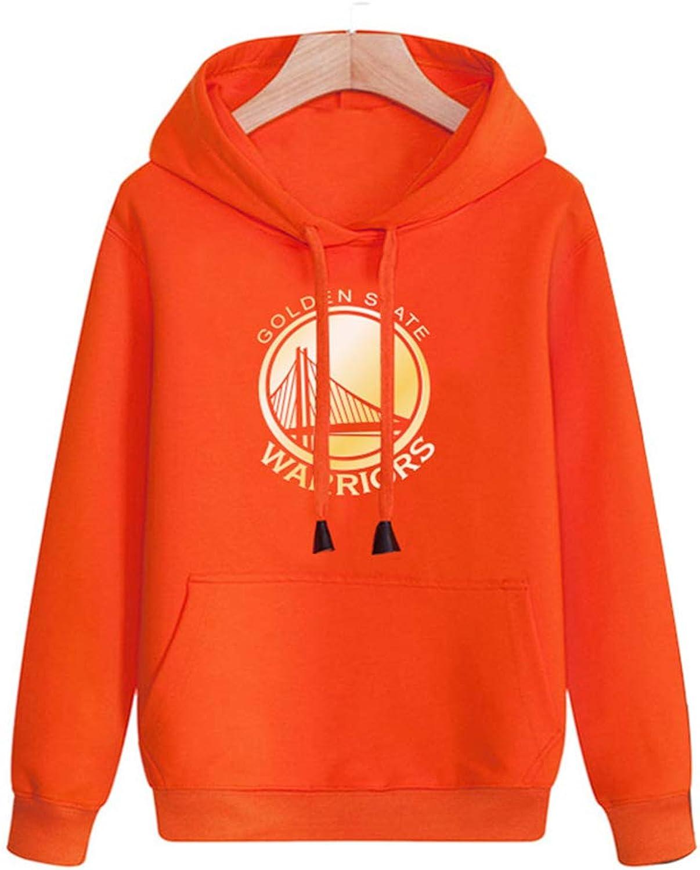 HuWai-Outdoor Hoodie NBA Golden State Warriors Basketball Mnner Casual Sport locker komfortable Persnlichkeit Mantel Orange
