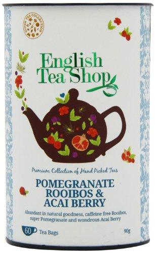 English Tea Shop - Granatapfel Rooibos & Acai-Beere, BIO, 60 Teebeutel in Dose