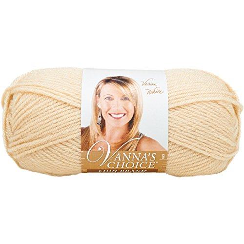 Lion Brand Yarn 860-123 Vanna's Choice Yarn, Beige