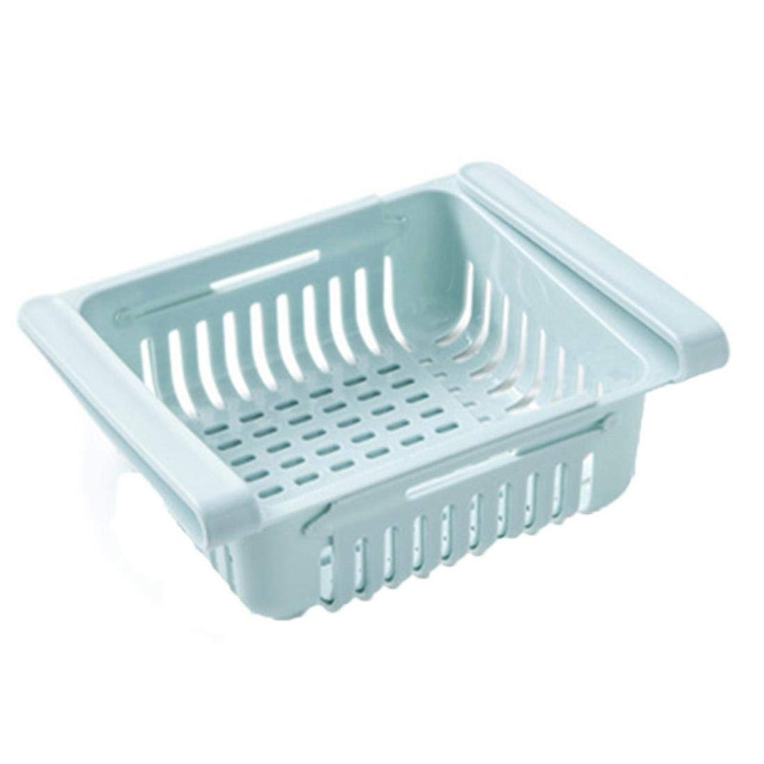 Organizador de Cocina Escurridor de Platos Estante para Platos Refrigerador Caja de Almacenamiento Cajón Estante Placa Estante de Almacenamiento Flexible escurridor de Platos, Azul, China: Amazon.es: Hogar