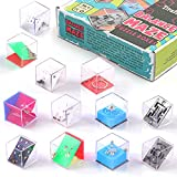 Balance IQ Maze Game Mini Fidget Puzzle Box 12Pcs for Kids and Adults Brain Teaser Puzzle Cubes for Challenge, Decompression and Special Needs Best Stocking Stuffers & Party Favor Games