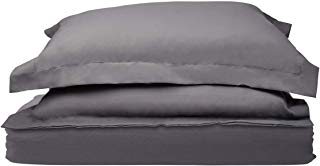 Red Nomad Luxury Duvet Cover & Sham Set, 3 Piece, Full/Queen, Gray