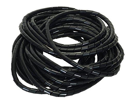 Flexible-Kabelspirale Spiralschlauch Bündelung - Bündelbereich Ø 4.0-50mm Länge 10 m SCHWARZ