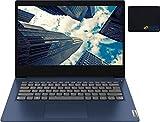 2021 Newest Newest Lenovo IdeaPad 3 Laptop, 14' Full HD Screen, AMD Ryzen 3 3250U Processor, 8GB RAM, 512GB SSD, Webcam, Wi-Fi, HDMI, Zoom Meeting, Online Class, Windows 10 Home, KKE Mousepad, Blue