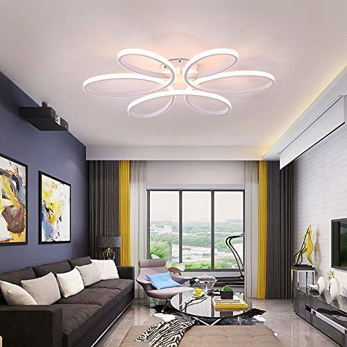 Asncnxdore Atenuación Inteligente LED Luz De Techo Personalidad Creativa Aluminio Comedor Lámpara Dormitorio Lámpara De Techo