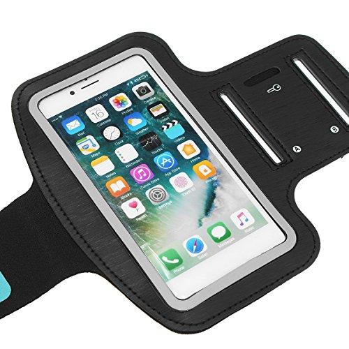 Bluelover Deportes Running Gimnasio Pantalla Táctil Brazalete Caso Funda Titular Bolsa para Iphone7 Plus - Negro