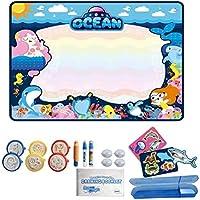 おもちゃ 水キャンバスキッズドローイングボード書込みボード幼児グラフィティキャンバス玩具 の色のキャンバス水のキャンバス (Size : 80*64CM)
