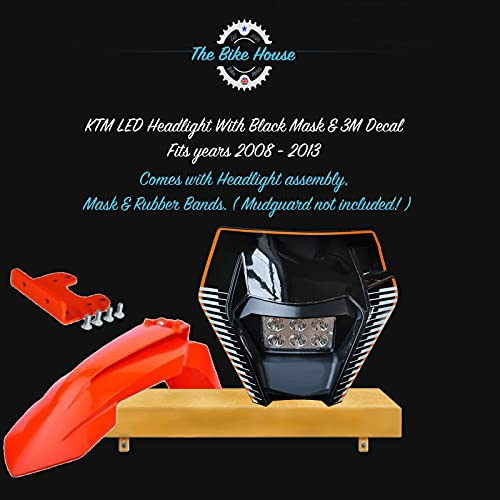 2008-2013 NEGRO Y NEGRO DECAL LED FARO SUPER BRIGHT PARA KTM TPI EXC LIGHT