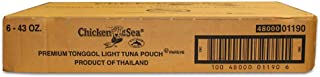 Chicken Of The Sea Chunk Light Tongol Tuna, 43 Ounce Pouch -- 6 per case.