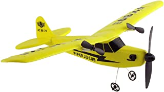 Glider Airplane Toys, Sacow Remote Control RC Helicopter Plane EPP Foam 2CH 2.4G Toy (Yellow)