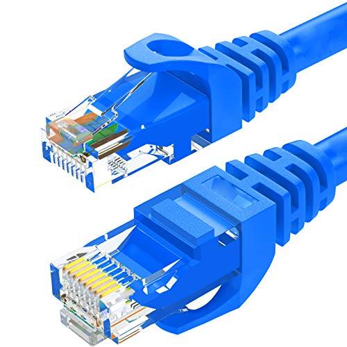 Cable Ethernet Cable Cat 6 Red Ethernet Cable LAN Ethernet, Alta Velocidad 1000MBPS 250Mhz Cable De Conexión De Internet SFTP LAN con Conector RJ45,B